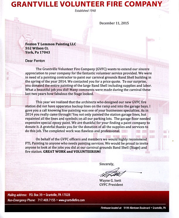 Grantville-Fire-Company-Letter